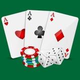 Элементы казино иллюстрации вектора Стоковые Фото