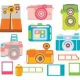 Элементы камеры, красочное собрание камеры Стоковое Изображение RF