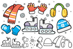 Элементы катания на коньках шаржа Стоковая Фотография