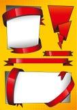 Тесемки красного цвета знамен Стоковое Изображение RF