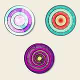 Элементы круга красочные с картиной на их иллюстрация штока