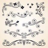Элементы курчавого дизайна флористические Стоковое Изображение RF