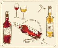 Элементы меню питья Стоковое Изображение