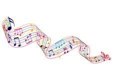 Элементы музыки иллюстрация штока
