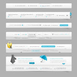 Элементы навигации шаблона веб-дизайна с значками Стоковое фото RF