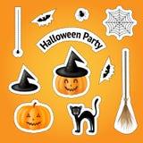 Элементы на праздник хеллоуина дизайна Стоковое Изображение RF
