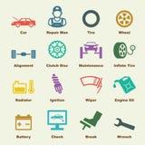 Элементы обслуживания автомобиля бесплатная иллюстрация
