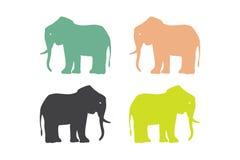 Элементы логотипа слона Стоковые Изображения RF