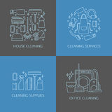 Элементы логотипа чистки Стоковое Фото