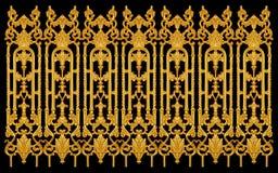 Элементы орнамента, винтажное золото флористическое Стоковые Изображения