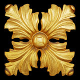 Элементы орнамента, винтажное золото флористическое Стоковое фото RF
