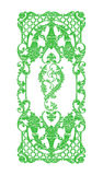 Элементы орнамента, винтажные зеленые флористические дизайны Стоковое фото RF
