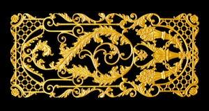 Элементы орнамента, дизайны винтажного золота флористические стоковое изображение rf