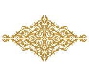 Элементы орнамента, дизайны винтажного золота флористические Стоковое Изображение