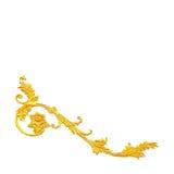 Элементы орнамента, дизайны винтажного золота флористические стоковые изображения rf