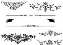 Элементы орнамента Стоковое Изображение RF
