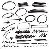 Элементы отметки вектора иллюстрация вектора