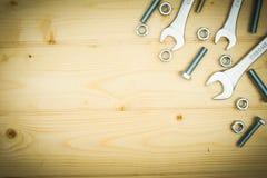Элементы отладки (гайки, шайбы, винты) и Стоковое Фото