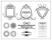 Элементы оформления года сбора винограда установленные для меню Элегантность старая бесплатная иллюстрация