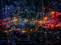 Элементы потока информации Стоковое Изображение