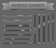 Элементы пользовательского интерфейса иллюстрация штока