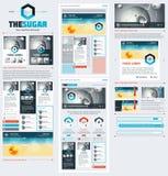 Элементы пользовательского интерфейса для веб-дизайна Стоковые Фото