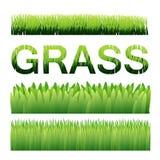 Элементы предпосылки вектора зеленой травы Ai10 Стоковая Фотография RF