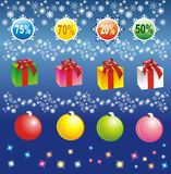 Элементы продажи рождества Стоковое Фото