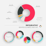 Элементы плоского дизайна вектора infographic Стоковое Изображение