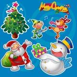 Элементы рождества голубые Стоковые Изображения