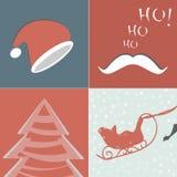 Элементы рождества для дизайна Иллюстрация вектора