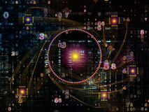 Элементы связей технологии иллюстрация вектора