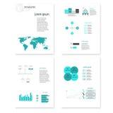 Элементы современного конспекта вектора infographic Стоковое Изображение