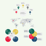 Элементы современного конспекта вектора infographic Стоковое Фото