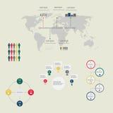 Элементы современного конспекта вектора infographic Стоковое фото RF