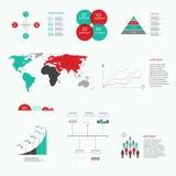 Элементы современного конспекта вектора infographic Стоковая Фотография