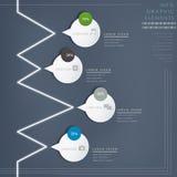 Элементы современного лоснистого пузыря речи infographic Стоковое Изображение