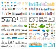 Элементы современных города и деревни - запаса Стоковая Фотография RF