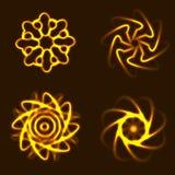 Элементы Солнця с приспособлением к предпосылке Стоковая Фотография
