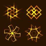 Элементы Солнця с приспособлением к предпосылке Стоковые Фото