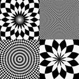 Элементы с checkered похожей на мрамор круговой картиной концентрическо иллюстрация вектора