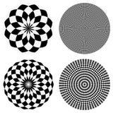 Элементы с checkered похожей на мрамор круговой картиной концентрическо бесплатная иллюстрация