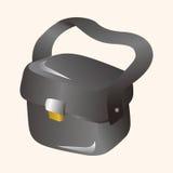 Элементы темы сумки камеры иллюстрация вектора