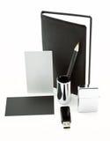 Элементы фирменного стиля, черного фирменного стиля, черного Стоковые Фотографии RF