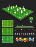 Элементы футбольного матча infographic Стоковое Изображение