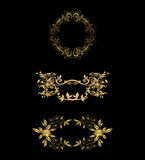 Элементы флористического дизайна вектора кружевные винтажные Стоковые Изображения
