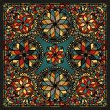 Элементы цветного стекла барочные Стоковая Фотография