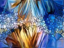 Элементы цветного стекла Стоковое Изображение