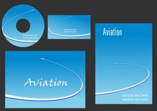 Элементы шаблона для дизайна авиации Стоковые Изображения RF