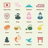 элементы японские Стоковое Изображение